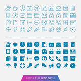 Business and Office set 3. Trendy thin icons for web and mobile. Line and full versions Royalty Free Stock Photos