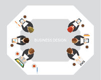 Business and Office Social Network Vector Design Royalty Free Stock Photography
