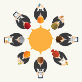 Business and Office Social Network Vector Design Stock Photo