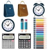 Business office stationery icons set. Royalty Free Stock Image