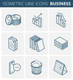 Business and office stationery. Vector isometric outline icon se stock illustration