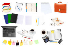 Business and office supplies. Vector illustration Stock Image