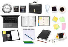 Business and office supplies. Vector Stock Photos