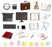 Business and office supplies. Stock Image