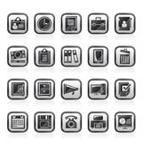 Business and office supplies icons Royalty Free Stock Photography