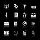 Business office supplies pictograms set Royalty Free Stock Photo