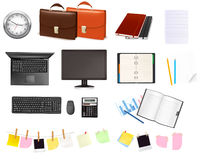 Business and office supplies. Vector. Stock Images