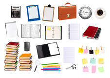 Business and office supplies. Vector. Royalty Free Stock Image