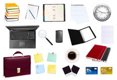 Business and office supplies. Vector Royalty Free Stock Photos