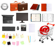 Business and office supplies. Vectorn. Royalty Free Stock Image