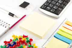 Business office supplies on white background. Office supplies on white background Stock Photo