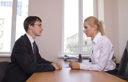Business. Office talks. Stock Photos