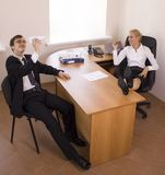Business. Office talks. Royalty Free Stock Photography