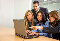 Business office team - laptop Royalty Free Stock Images