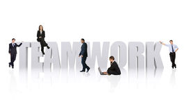 Business office teamwork Royalty Free Stock Image