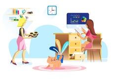 Business office teamwork vector illustration vector illustration
