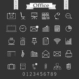 Business and office thin icons set. Trendy line Royalty Free Stock Photo