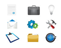 business office tools icon set illustration Royalty Free Stock Photos