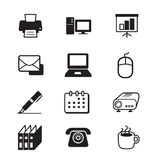 Business office tools icon set Royalty Free Stock Images