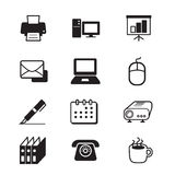 Business office tools icon set. Vector illustration Graphic Design Royalty Free Stock Photo