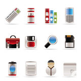 Business and Office tools icons Royalty Free Stock Images