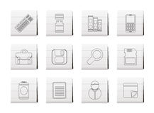 Business and Office tools icons Stock Images