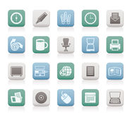 Business and Office tools icons Stock Image