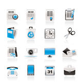 Business and office tools icons. Vector icon set Stock Photography