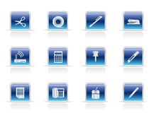 Business and Office Tools Icons Royalty Free Stock Photography