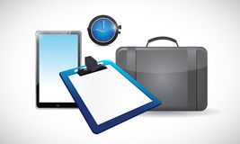 Business office tools illustration design Stock Images