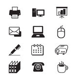 Business office tools and stationery icon set Royalty Free Stock Photos