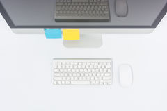 Business office top view computer monitor Stock Images