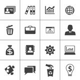 Business and office web icon set. Set of Business and office web icon Stock Photography