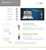 Business office website concept Royalty Free Stock Photo