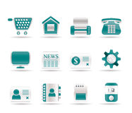 Business, office and website icons Stock Image