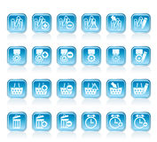 24 Business, office and website icons Royalty Free Stock Photo
