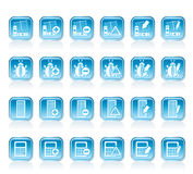 24 Business, office and website icons. Vector icon set 2 Royalty Free Stock Image