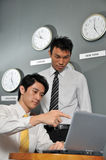 Business Office With Clock 122 Stock Photo