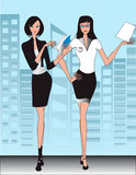 Business office women  Illustration Royalty Free Stock Image