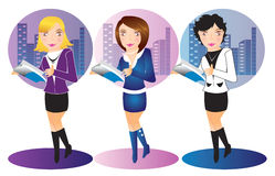 Free Business Office Women Illustration Royalty Free Stock Photo - 18127295