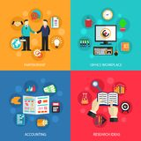 Business office work concept stock illustration
