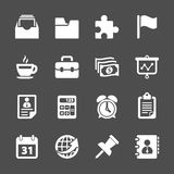 Business and office work icon set, vector eps10 Stock Image