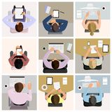 Business office workers royalty free illustration