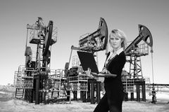 Business in oil industry Stock Photo