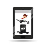 Business oil smartphone businessman low price Stock Photo