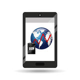 Business oil smartphone global increase price Stock Image