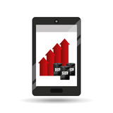 Business oil smartphone growth graph Stock Photo