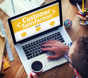 Business Online Customer Satisfaction Working Concept Stock Images