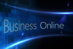 Business online on digital screen Stock Images