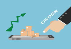 Business online e-commerce shopping concept Royalty Free Stock Photography